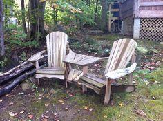 Siamese twin Muskoka chairs