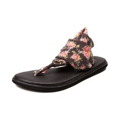 Shop for Womens Sanuk Yoga Sling 2 Floral Sandal in Charcoal...just grabbed these on Zulily! So excited to try them out!