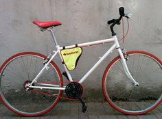 Handmade White&Red Bike.
