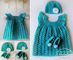 Crochet-Dress-Hat-and-Slippers-FREE-Pattern-wonderfuldiy