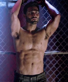 Pin for Later: 9 Times You Couldn't Unglue Your Eyes From Tyler Hoechlin's Shirtless Bod on Teen Wolf When He Flexes His Muscles and Your Body Shivered