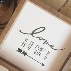 I've opened up a couple custom 'GPS lovers coordinates' in the shop. Calling all MEN, you will knock your wife/girlfriend's socks off with this. Address of where you were married or your first date or any place special. Oh and it's Friday Love Signs, Diy Signs, Gift Baskets For Women, Love Frames, Wood Vinyl, Wife And Girlfriend, Open Up, Knock Knock, Wedding Gifts