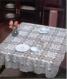 View album on Yandex. Large Tablecloths, Oblong Tablecloth, Short Curtains, Floral Curtains, Crochet Trim, Crochet Motif, Floral Border, Crochet Scarves, Beautiful Crochet