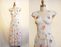 Vintage 1930s Romantic Evening Gown / 30s by LittleFrenchDress, $295.00