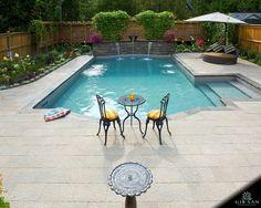 Benches Steps Gib San Pools Toronto Mississauga Oakville Pool Patio Designs Backyard Pool Swimming Pool Renovation