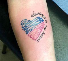 Siempre en mi corazón. Y tú, ¿tienes algún tatuaje? Comparte tu historia. Foto:es.pinterest.com/pin/13651605096938345/