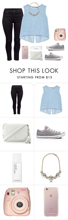 """""""we're heading downtown"""" by moonhauntedmyocean ❤ liked on Polyvore featuring H&M, Steve J & Yoni P, Kate Spade, Converse, NARS Cosmetics and Forever 21"""