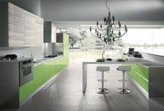 Colorata, moderna e grintosa… studiata per il vivere quotidiano in #cucina. FLASH » www.cucinesse.it/cucine/flash/