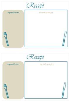 template, printable recipe cards - printbare receptkaarten