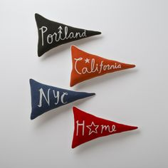 Love these Home Team Pennant Pillows from Schoolhouse electric!