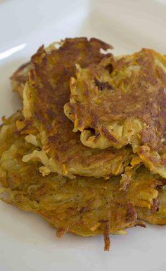 Sweet potatoes, roasted garlic, caramelized shallots !! Take your potato pancakes to the next level with these awesome vegan sweet potato pancakes! Easy to make, hard to stop eating. www.vegandaydream.com