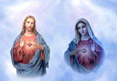 Sacré Coeur de doux Jésus et Coeur immaculé de Marie