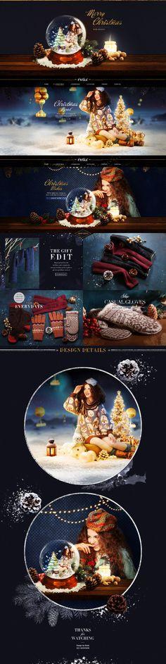 女装海报及首页[圣诞专题]|电子商务/商...