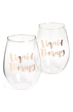 It's the simple things in life that bring inner peace, and these stemless wine glasses are sure to bring some stress relief.