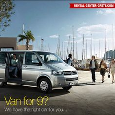 Reserving a rental car for bigger families and parties is no longer a problem. Carry lots of bags and suitcases with the best people carrier in this category. Whatever you need, there's a Transporter for you  Book now the #Volkswagen Transporter at Rental Center Crete Crete car hire   ▶ http://www.rental-center-crete.com/cars/group-i/vw-transporter.html