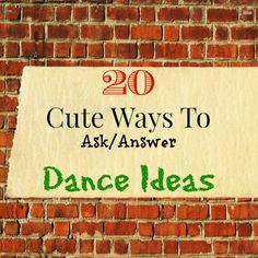 Lou Lou Girls : 20 Cute Ways To Ask/Answer Dance Ideas