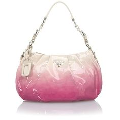 This glamorous Prada handbag is fashioned from shimmering pink patent leather with an ombre effect to cream. Description from bagborroworsteal.com. I searched for this on bing.com/images