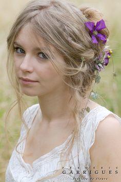 #coiffure #mariée fleurs - by frederic-garrigues