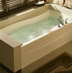 Best whirlpool tub cleaner. Fill tub at least 1 inch above jets with hot water. Add 1 cub bleach and 1 cup of dishwasher power. Run jets for about 10 minutes. Kills mold/mildew and gets out yuck from jets. Your tub will be sanitized and shine. - Smells terrible (use good ventilation) but makes me feel better about taking a bath with the jets on knowing the pipes are squeaky clean. Love that you just fill it, turn the timer and walk away. ~Leah