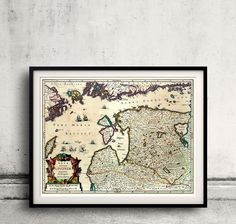 Map of Lithuania, Estonia and Latvia by Jansson - 1636 - FREE SHIPPING - SKU 0240 by PaulMaps on Etsy