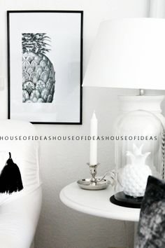 HOUSE of IDEAS black&white , pineapple http://myhouseofideas.blogspot.de/2014/04/in-wieviel-tagen-ist-ostern-ile-jeszcze.html#comment-form