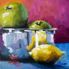 Still Life Artwork — Kelley Brugh Fine Art Auction Donations, Purple Lily, Still Life Fruit, Still Life Oil Painting, Fruit Painting, Just Peachy, Fruit Art, Oil On Canvas, Canvas Paintings