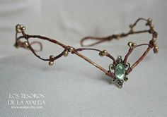 Woodland elf tiara - elven headpiece - fairy crown woodland tiara - circlet - elf tiara - elven tiara - woodland wedding crown - handmade forest tiara, fit on the back with a ribbon. Elven Princess, Princess Style, Woodland Elf, Fairy Crown, Elvish, Circlet, Woodland Wedding, Forest Wedding, Tiaras And Crowns