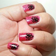 La girl dazzling pink stamped