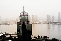 View of the Bund, in Shanghai