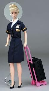 Saw this today.. looks like a Continental Flight Attendant Barbie!