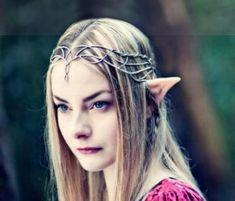 fairy tiara Bijoux elfiques, Bijoux rose et Création bijoux