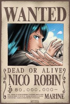 Poster One Piece Wanted Robin (52X35)