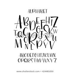 Collection of hand drawn letters. Hand drawn vector al… Collection of hand drawn letters. Isolated on white background.