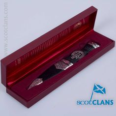 Scott Clan Crest Sgian Dubh. Free Worldwide Shipping Available