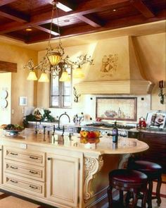 Feel the beauty of the Tuscan landscape all around you, as you recreate a Tuscany kitchen, in your own home. Tuscan kitchen is a great space.