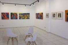Rincón sur este (o norte este según se mire...) de la sala Artemisia con las pinturas de Martí Ceballos.