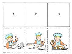 Autismus Arbeitsmaterial: Tolle Handlungssequenzen Sequencing Worksheets, Story Sequencing, Kindergarten Worksheets, Worksheets For Kids, Preschool Learning Activities, Speech Therapy Activities, Preschool Lessons, Infant Activities, Sequencing Pictures