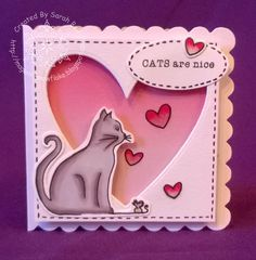 Designed By Sarah Bell for Little Claire Designs using Cats are Nice stamp