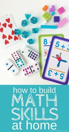 No fuss, non-electronic FUN ways to practice math facts and build math skills at home.
