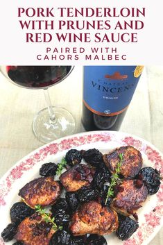 Discover flavors of fall paired with Cahors Malbec with food pairings including pork tenderloin with prunes and a red wine sauce. Braised Chicken Thighs, Food Experiments, Wine Sauce, Serving Platters, Wine Recipes, Red Wine, Pork, Stuffed Peppers, Meals