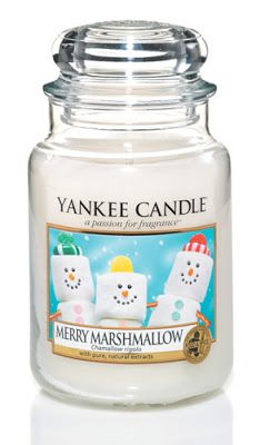 Christmas 2013 Yankee Candle Merry Marshmellow. Would like to add this to my collection soon ......have fireside treats now but ummmmm.....