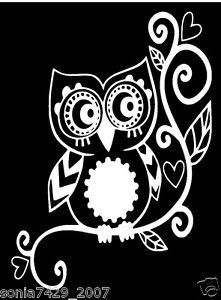 OWL-sticker-decal-car-window-vinyl-Laptop-Tribal-Girl-Love-Owl-Sticker-Decal-A19