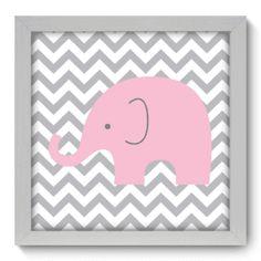 Quadro Decorativo - Elefante Chevron - 094qdb