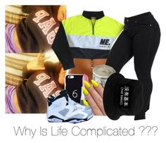 """""""I Juss Need To Smoke Mii Problems Away"""" by kekethebaddest ❤ liked on Polyvore featuring October's Very Own"""