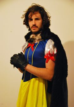 My brother went as Jon Snow-White for Purim (Jewish halloween)