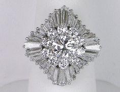 Platinum ballerina ring