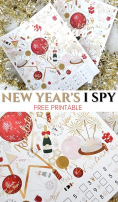 Free New Year's adult layered I SPY printable game. #newyears #newyearsgame #printable #printablegame #Ispygame Fun Activites For Teens, Games For Teens, Crafts For Teens, Fun Activities, New Year's Crafts, Holiday Crafts, Holiday Fun, Winter Holiday, Holiday Ideas