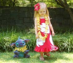 Lilo Disney Vacation Halter Dress by littleellaroo. $65.00, via Etsy.