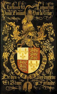 Shield of Edward IV in his capacity as knight of the Order of the Golden Fleece (c. 1481)
