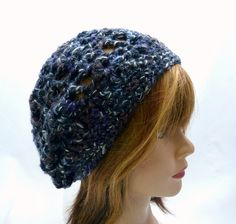 Wintertime Shelly Slouchy Beanie in Black Fleck by Threadmill, $29.00